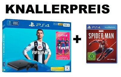 2465602 Sony Playstation 4 Konsole PS4 500 GB + FIFA 19 - NEU OVP