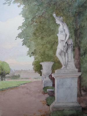 Ex Old Master Sale - Louis Emile Adan (B 1839) - Versailles - Watercolour
