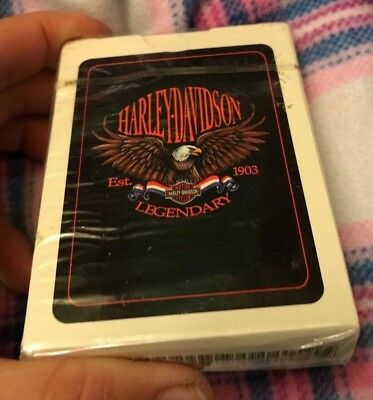 Sealed HARLEY DAVIDSON Hoyle LEGENDARY Eagle PLAYING CARDS in Package FREE SHIP