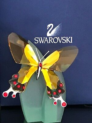 SWAROVSKI ARTENA PARADISE BUTTERFLY in ORIGINAL BOX with CERTIFICATES and LEAF