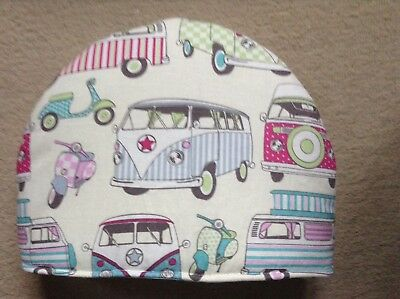 Campervans pink and turquoise  Tea Cosy