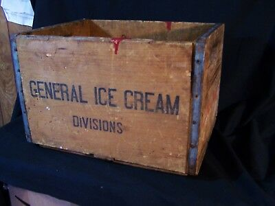 Antique Vintage Advertising Crate Wooden Box SEALTEST ICE CREAM Great Home Decor