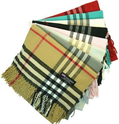 Wholesale Lot Womens 100% CASHMERE Scarf Vintage Big Plaid Soft Made In SCOTLAND