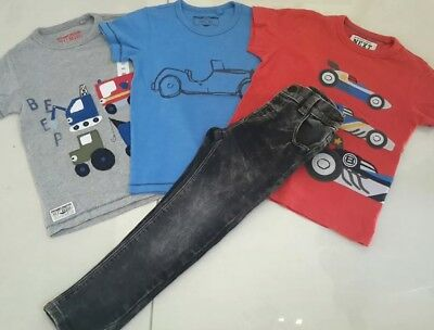 100% Next Boys Tshirts X 3 And Denim Jeans Age 2/3 Years
