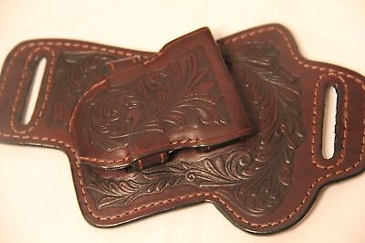 FAST DRAW - WESTERN LEATHER HOLSTER Brown for Smaller Gun NICE ***********