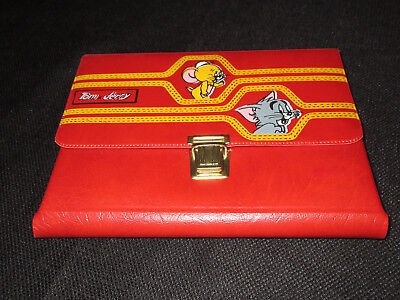 1980s Tom & Jerry Pencil Case * Vintage * Very Rare * Red * No Splits Greece