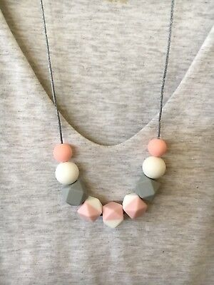 Silicone Necklace (was teething) Sensory for Mum Present Beads Aus Gift free pos