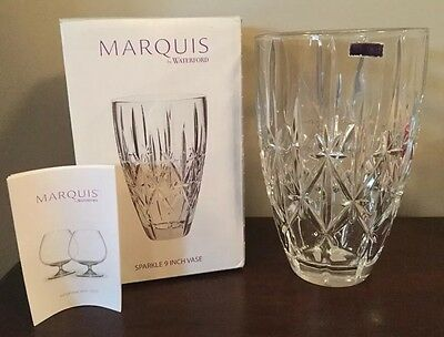 Marquis By Waterford Crystal Sparkle Vase 9 New In Box Germany T7
