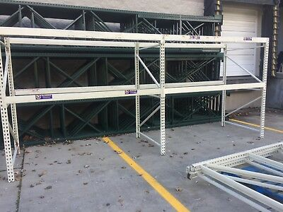 "Two Sections Tear Drop Pallet Racking, 49.5""D x 84""H..."