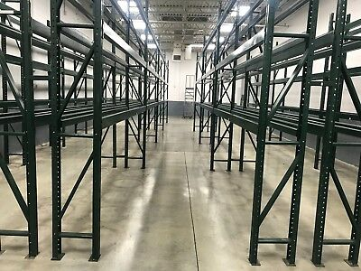 "30 Sections Ridge U Rack Pallet Racking for Tire Business, 18"" x 144"" (12'H)."