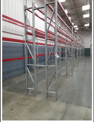 Four  Sections Ridge U Rack Tire Pallet Racking, 12'H.