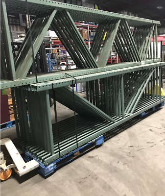 "5 Sections of Tear Drop/Pallet Racking, 42""D x 156""H (13')..."