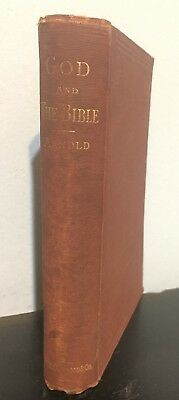 God and The Bible by Matthew Arnold 1876 Antique Religion Book