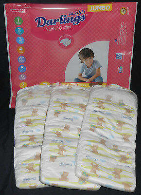 Super Big Baby Diapers Size 7 Darlings OVER 53 lbs! XXL Extra Large Non Vintage