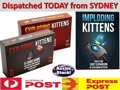 AU Exploding Kittens Board Party Card Game - Original + NSFW + Imploding Kittens