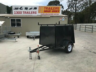 6x4 heavy duty single axle Van trailer Fully enclosed trailer With racks