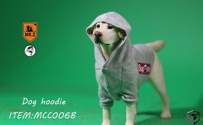 1/6 Scale Mr.Z X MCCToys MCC006B Grey Dog Hoodie Clothes Accessory