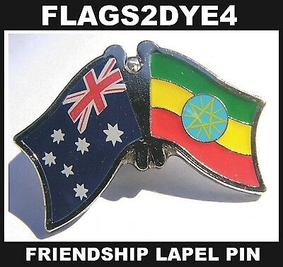 Australia flag Ethiopia Ethiopian lapel pin badge + AUSTRALIA POST TRACKING