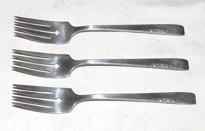 "Rogers 1881 Oneida Proposal Silverplate THREE 6.3/8"" Salad Forks"