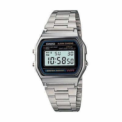 Casio Men's Quartz Silver-Tone 32mm Watch A158W-1 Best Seller Fast Free Shipping
