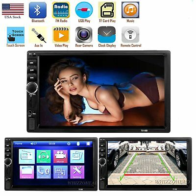 "7"" 2-DIN Car MP5 Player Bluetooth Radio Touch Screen Stereo Audio AUX FM GPS USB"