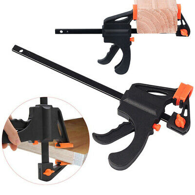Quick Adjustable Woodworking Clip Quick Grip Squeeze Clamp Wood Carpenter Tool