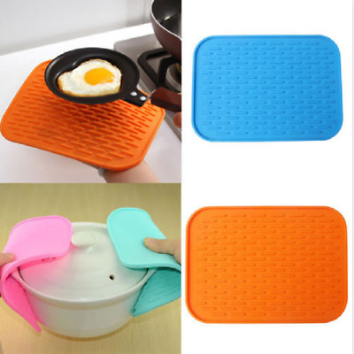 Silicone Trivet Pot Tray Kitchen Holder Mat Heat Non-slip Resistant Straightener
