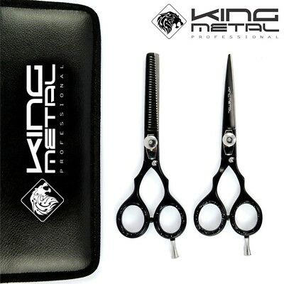 5.5 Pro Hair Cutting Thinning Scissors Set Shears Barber Salon Hairdressing KMP