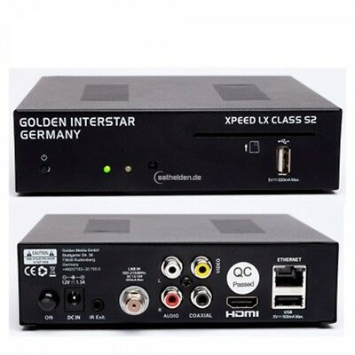Golden Interstar Xpeed LX Classe S2 HDTV Completo Ricevitore Satellitare Linux