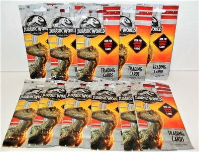 2018 Jurassic World Fallen Kingdom Trading Cards Lot Of (12) Packs