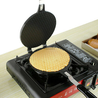 Waffle Cone Baking Pan Egg Roll Crispy Omelet Machine Gas Bakeware Maker Cooking