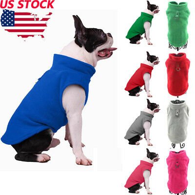US Pet Fleece Harness Vest Jacket Jumper Sweater Coat for Small Medium Large Dog