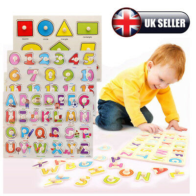Kids/Toddler Peg Jigsaw Puzzles Baby Wooden Game Educational Toy Xmas Funny Gift