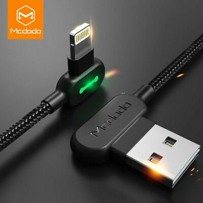 Mcdodo Lightning USB Cable for iPhone Xs Max X 8 7 6 5 SE Smart LED Charge Cable
