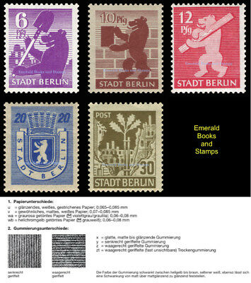 EBS Germany 1945 SBZ Berlin Bear Berliner Bär Michel SBZ 2,4,5,6,7 wb z MNH**