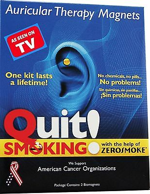 Quit ~ Stop Smoking Earring  ZEROSMOKE Gold Auricular Therapy HEALTH MAGNETS