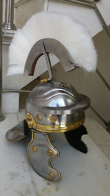 Antique Ancient Greek Medeival Roman Helmet Finish White Plume Replica Gift Item