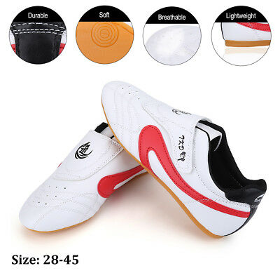 Adult Kids Kickboxing Taekwondo TKD Shoes Kung Fu Sneakers Trainer Tai Chi PU UK