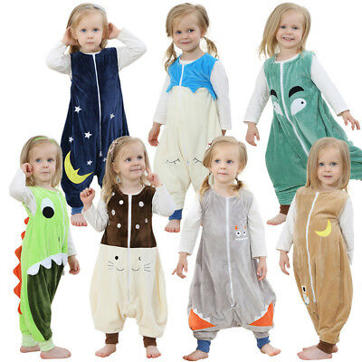 Boys Girls Jumpsuit Romper Sleeveless Costume Outfit Zip Playsuit Sleep Clothes