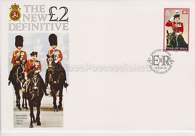 Unaddressed Isle of Man FDC First Day Cover 1990 £2 Definitive Stamp 10% off 5+