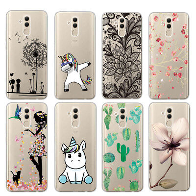 For Huawei Mate 20 Lite Patterned Clear Ultra Thin Slim Soft Gel Back Case Cover