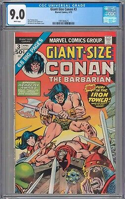 Giant-Size Conan the Barbarian #3 CGC 9.0 VF/NM WHITE PAGES