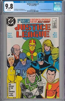 Justice League #1 CGC 9.8 NM/MT 1st Appearance of Maxwell Lord WHITE PAGES