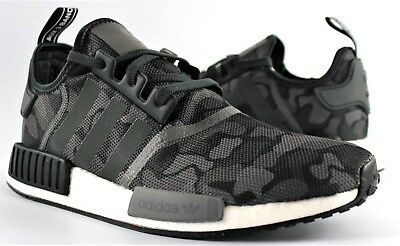 9673bf9b5dce Adidas Originals Nmd R1 Boost Shoes Camo D96616 Camouflage New Mens Grey