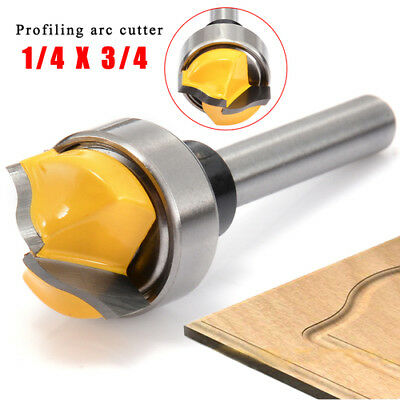 Profile Groove Template Router Bit 1/4*3/4 Shank Woodworking Cutter Tool Durable