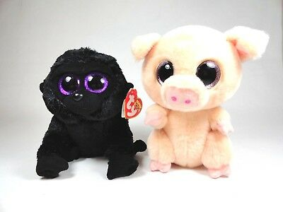 1st Color RETIRED Version NEW MWMT 6 Inch Ty Beanie Boos ~ PIGGLEY the Pig