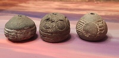 Viking group of stone spindle whirls  8th century