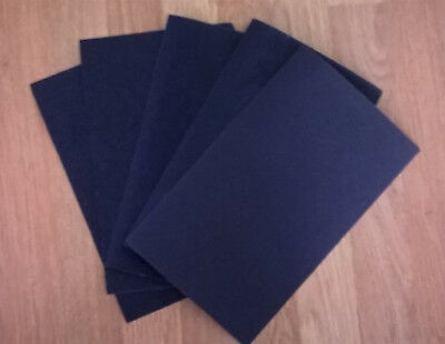 5 Sheets Wet or Dry Sandpaper - Coarse Assortment - 230mm x 140mm approx