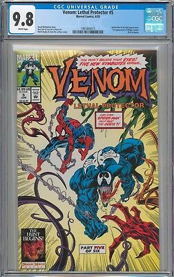 Venom Lethal Protector #5 CGC 9.8 NM/MT 1st Appearance of Phage WHITE PAGES