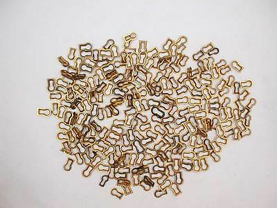Lot of 50+ Vintage New Old Stock Brass Push-in Key Escutcheons, Assorted, As Is